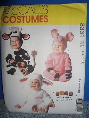 Mccalls 8331 TOM Arma Infant Costume Pattern COW PIG Lamb 1 2 1 2 Uncut |  sc 1 st  Pinterest & Mccalls 8331 TOM Arma Infant Costume Pattern COW PIG Lamb 1 2 1 2 ...