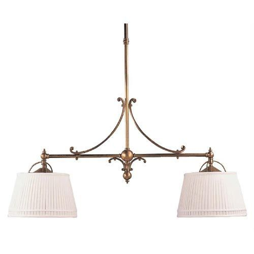 Visual Comfort And Company Antique Brass Sloane Shop TwoLight - Two light island pendant