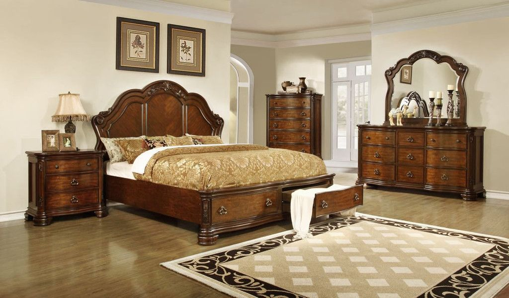 lifestyle b5390 king storage bedroom set - King Bedroom Sets Dallas