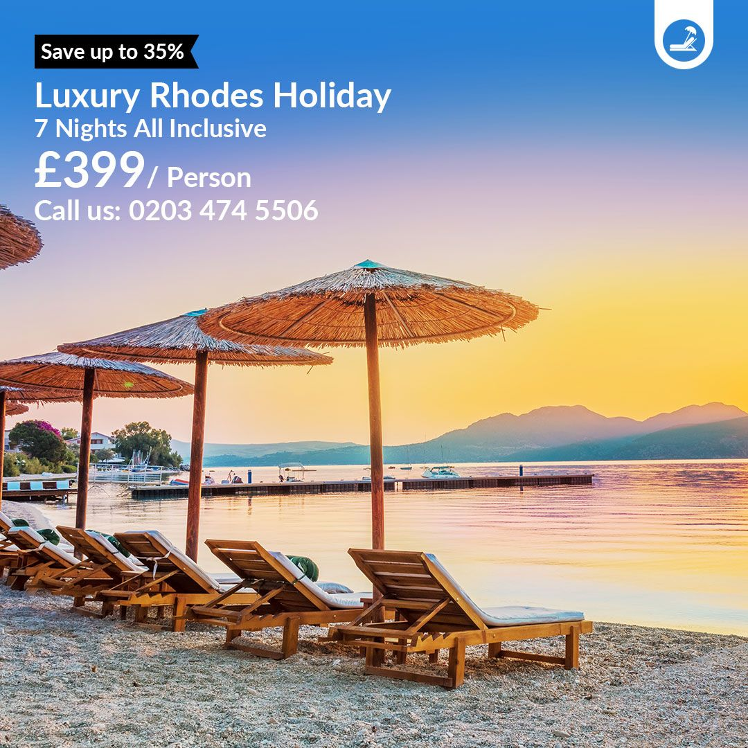 7 Nights All Inclusive Luxury Rhodes  Best holiday
