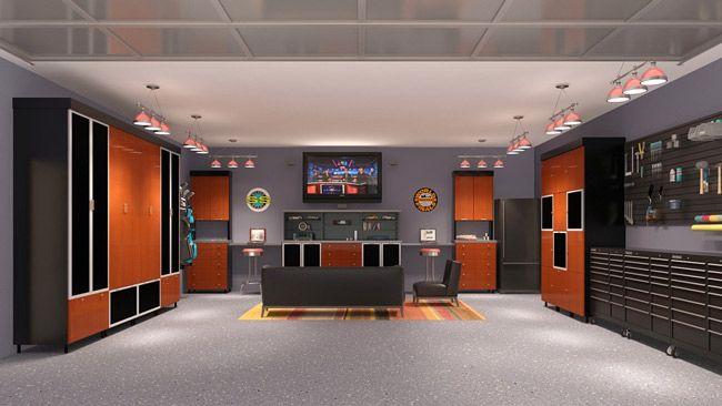 Game Room Garage Http Www Motortrendgarage Com Garage Cabinets Popular Cabinets Mancave Pictures Imgid Garage Design Interior Man Cave Garage Garage Design