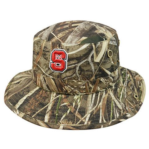 NC State Wolfpack Boonie Max Realtree Camo Bucket Hat  7536c1c3a44c