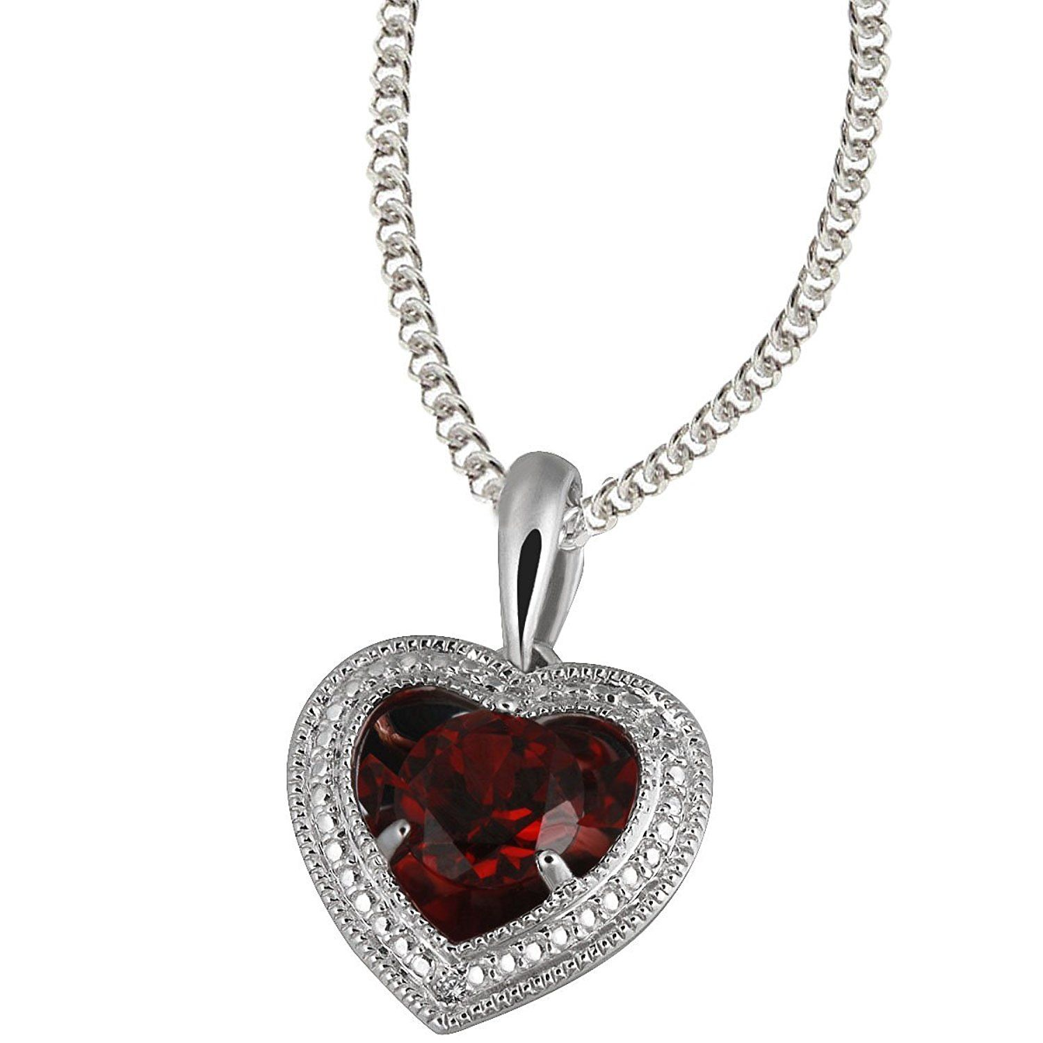 Goldmaid Women 925 Sterling Silver Cubic Zirconia Heart Necklace t2RSv7dD