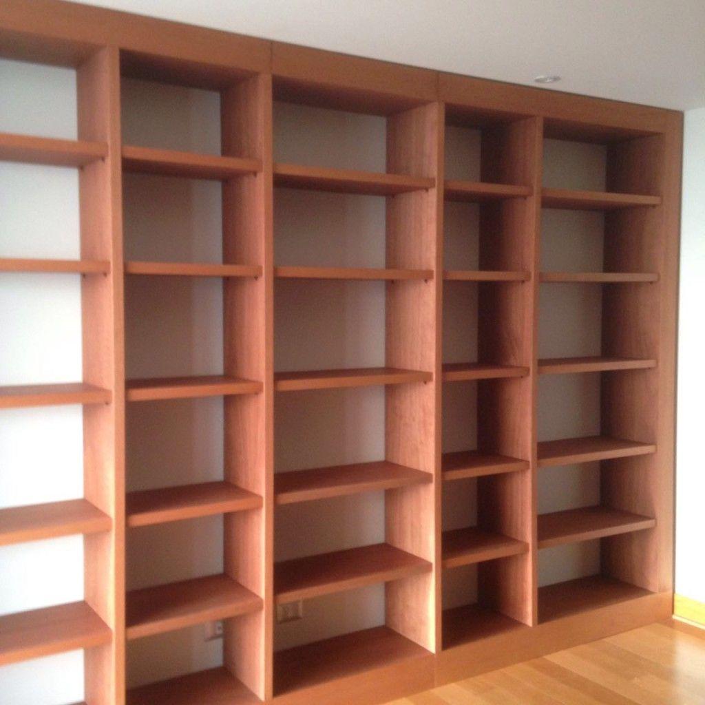 Mueble Mural Librero En Tablero Enchapado En Cedro De 380 240 Cms  # Muebles Murales