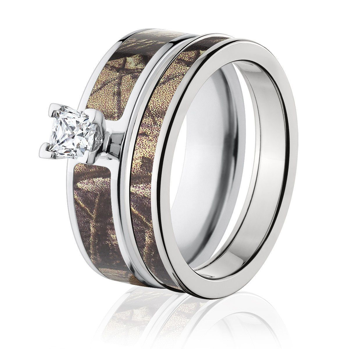 Realtree AP Camo Set for Her Camo engagement rings