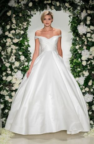 Sweetheart Princess Ball Gown Wedding Dress With Natural Waist In Silk Satin Bridal Style Number 33329848