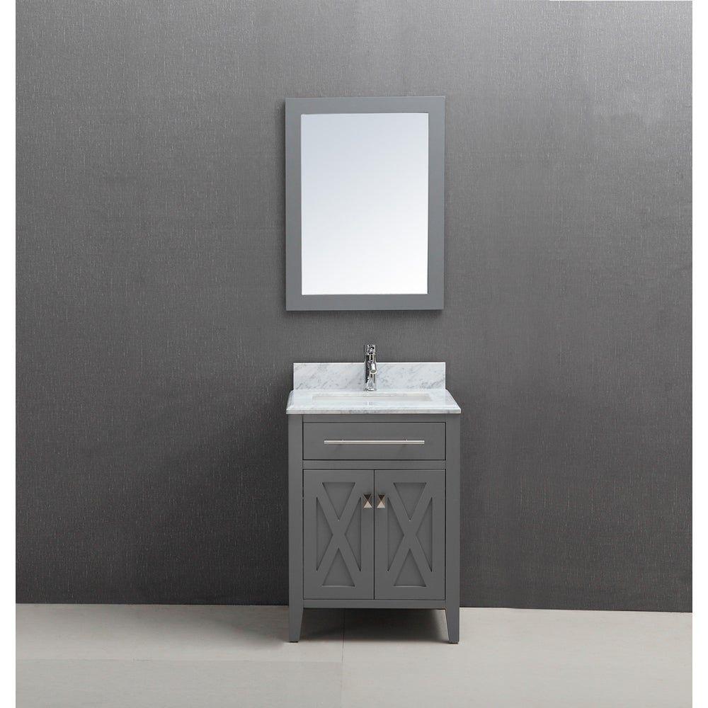 24 Inch Belvedere Traditional Freestanding Grey Bathroom Vanity W