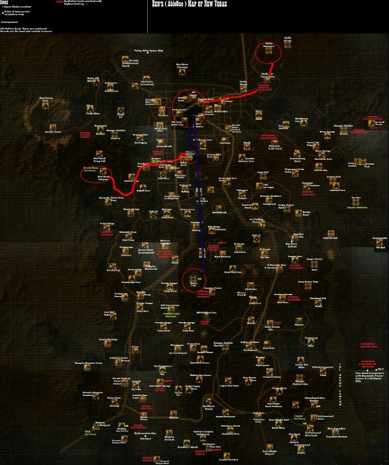 Fallout New Vegas map | Fallout | Fallout new vegas, Fallout, Vegas