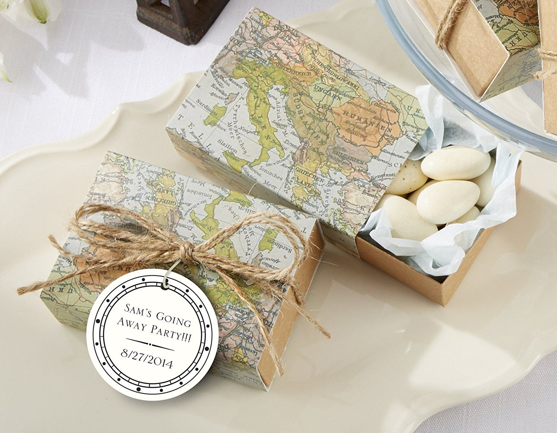 Amazon Com Kate Aspen Around The World Map Favor Box Set Of 24 Arts Crafts Sewing Wedding Map Key Bottle Opener Wedding Favor Wedding Favor Boxes