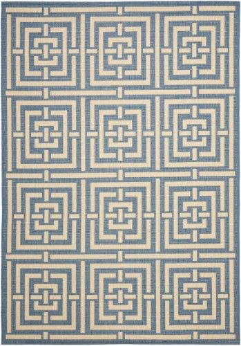 Reanna Courtyard Indoor Outdoor Power Loomed Rug Blue