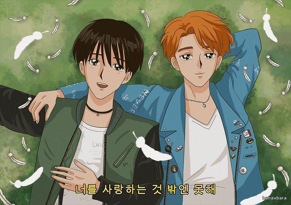Jihope Old Anime Style Anime 90s Anime Kpop Fanart