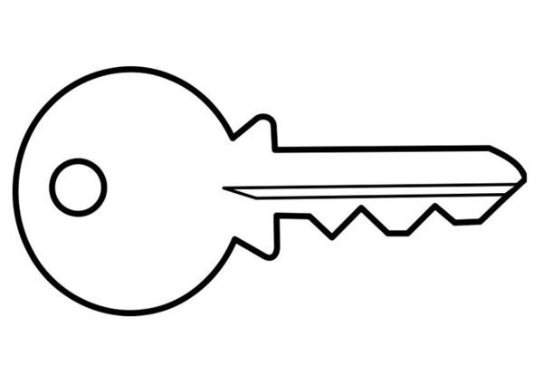 Key Coloring Page Printable Pictures Keys