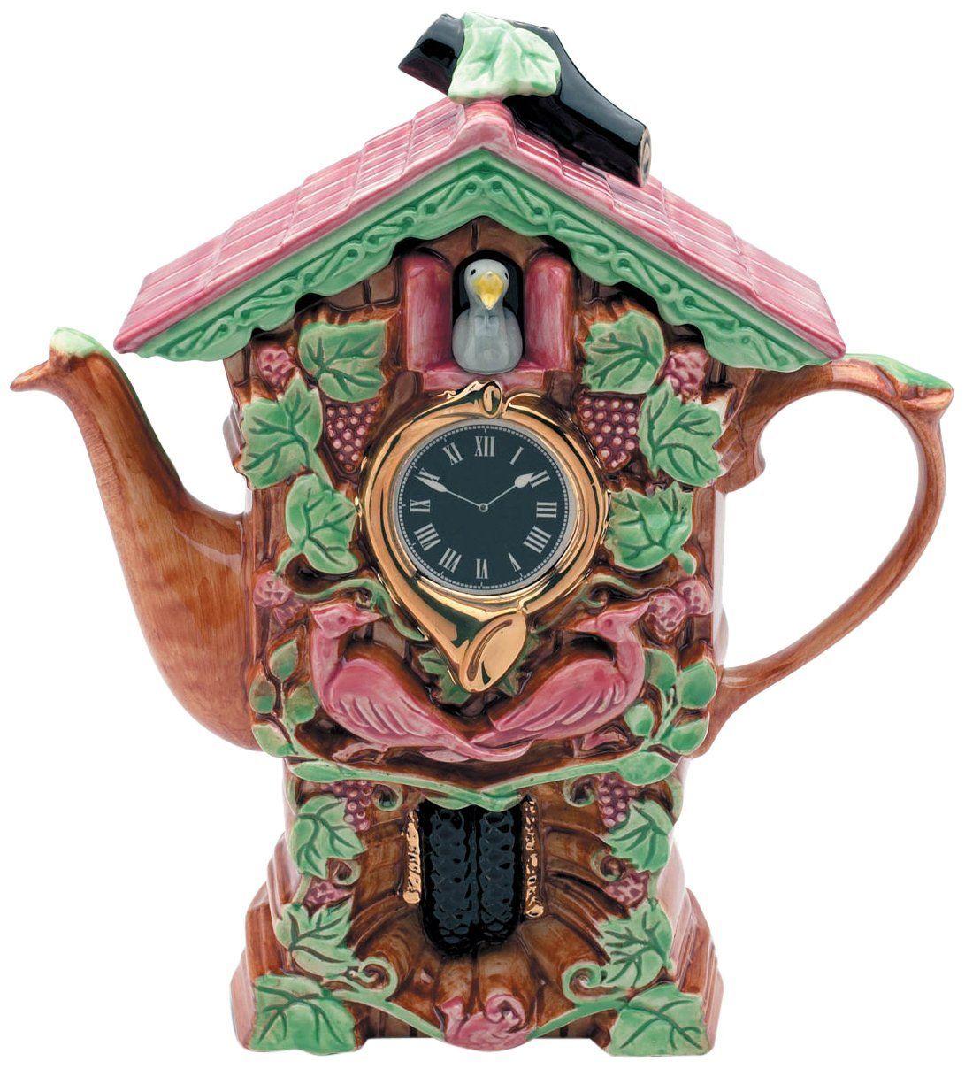 The Teapottery 1 Piece Large Ceramic Cuckoo Clock Teapot Brown Amazon Co Uk Kitchen Home Teapots Unique Tea Pots Tea Pot Set