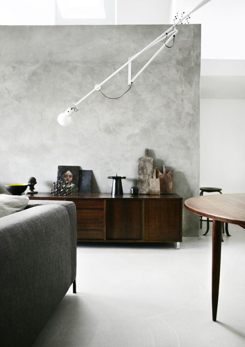 Pareti effetto cemento in soggiorno soggiorno pareti for Pareti grigie soggiorno