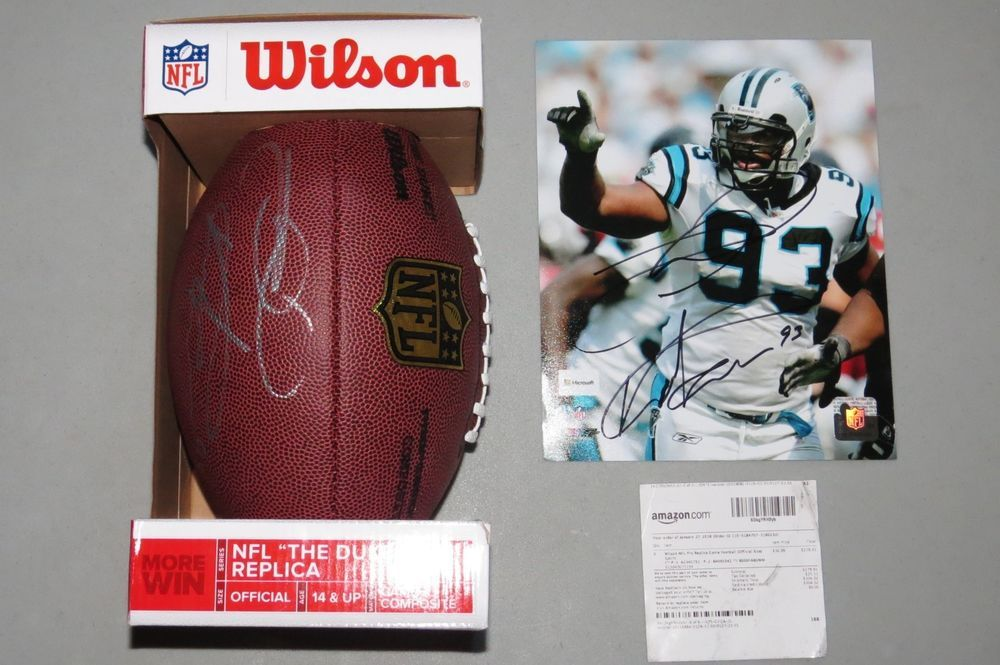 Mike Rucker Autographed Football 8x10 Photo Signed 93 Carolina Panthers Nfl New Carolina Panthers Football Signs Nfl