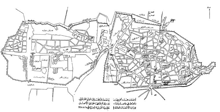 From Wikiwand خريطة صنعاء رفعت للوالي العثماني مصطفى عاصم باشاونقلت طبق الأصل بوزارة الاشغال العامة في الجمهورية العربية اليمنية في 15 م Map Diagram World Map