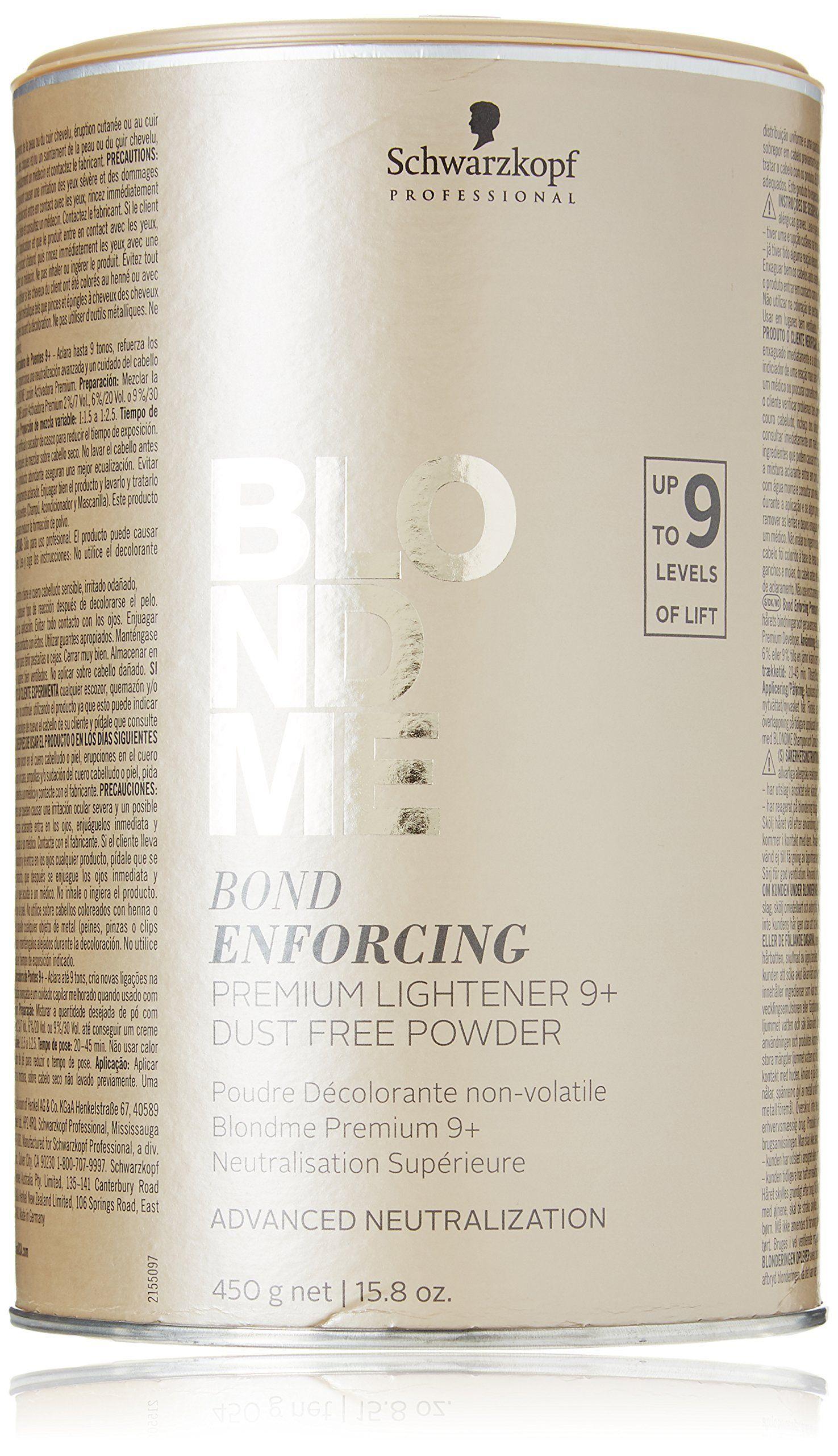 Schwarzkopf Professional Blond Me Premium Lift 9 15 8 Oz Standart Walmart Com In 2021 Best Hair Bleach Bleached Hair Best Bleach For Dark Hair