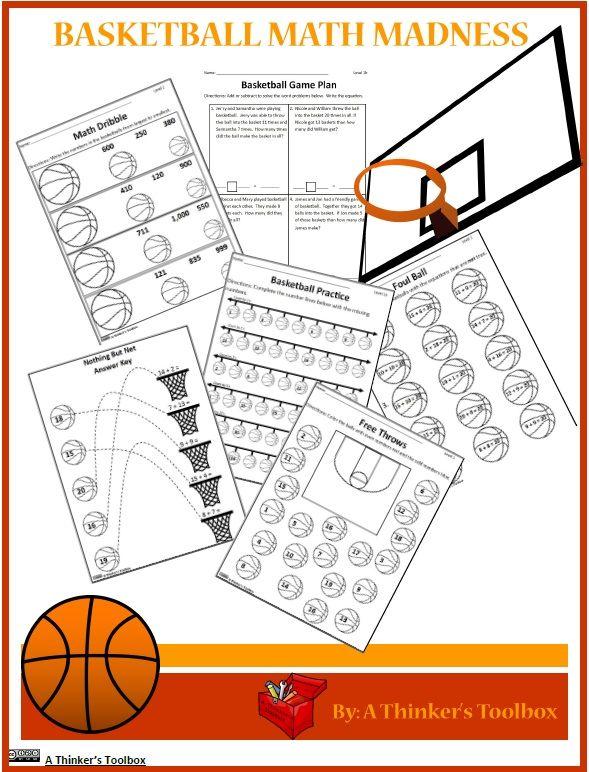 Basketball Math Madness NO Prep Worksheets Math Can Be Fun