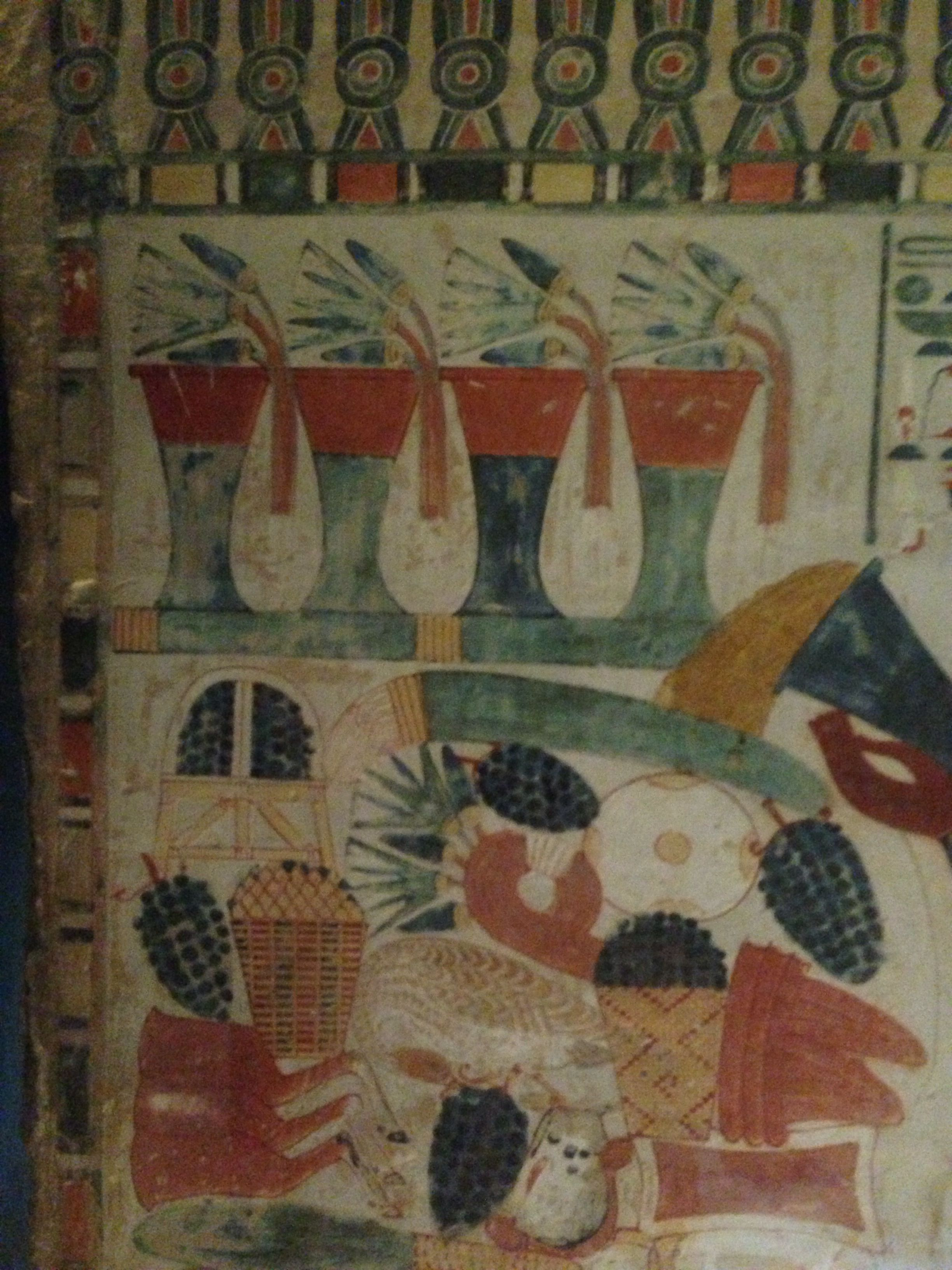 Beautiful colour in small chapel at Karnak temple, Luxor