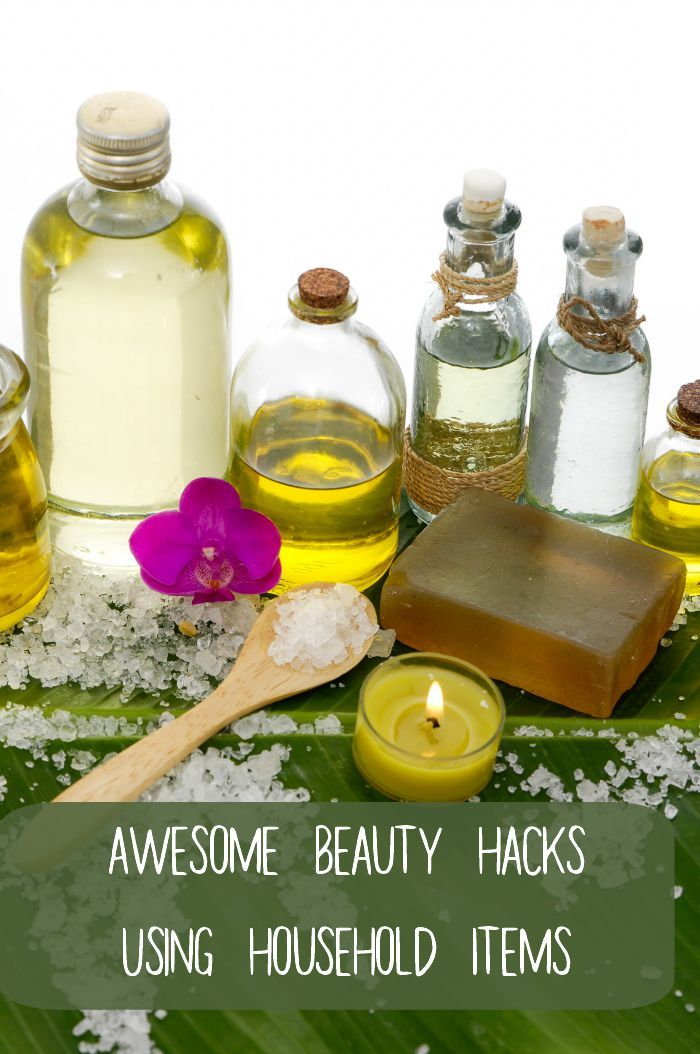 Awesome Beauty Hacks Using Household Items | Household items ...