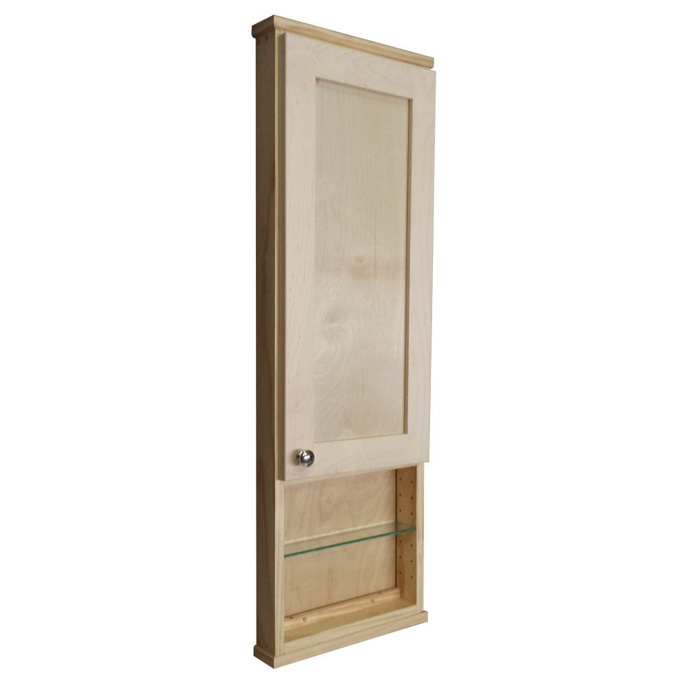 42 Inch Medicine Cabinet Wg Wood Products Shaker Series 42 Inch Unfinished 12 Inch Open