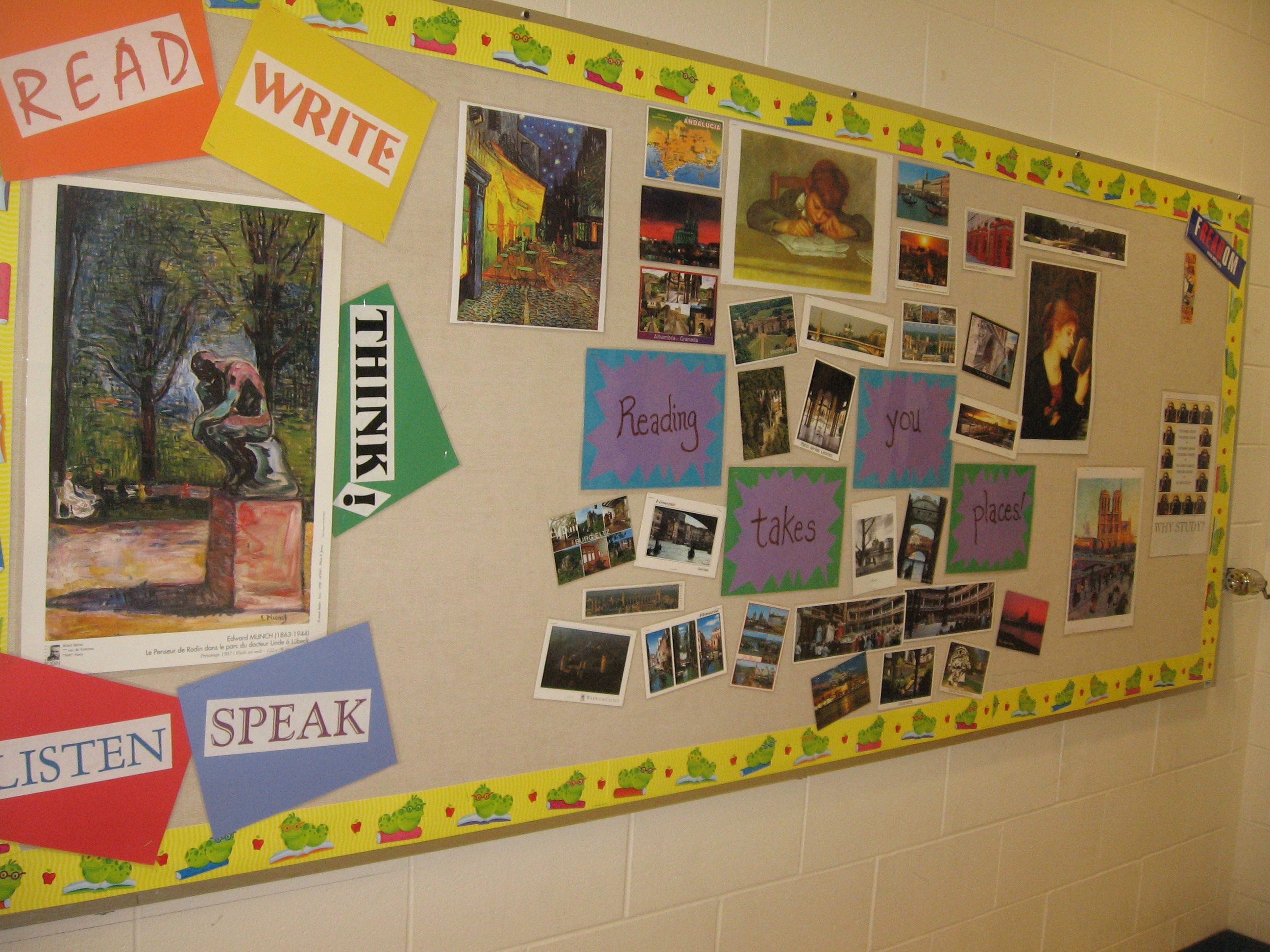 Bulletin Boards And Wall Decor For High School English Classrooms