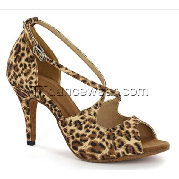 dec751a6b Free Shipping Wholesale Leopard Print Latin Dance Shoes Salsa Dance Bachata Dance  Shoes