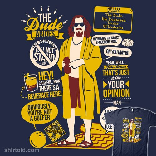 Big Lebowski Quotes New The Dude Quotes  Shirts  Pinterest