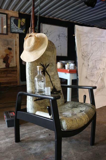 fauteuil d 39 artiste des artistes personnalisent des. Black Bedroom Furniture Sets. Home Design Ideas
