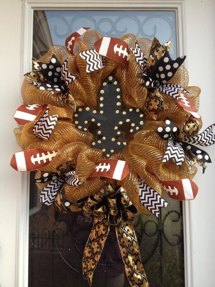 Saints wreath by Stacy Creations!!!!