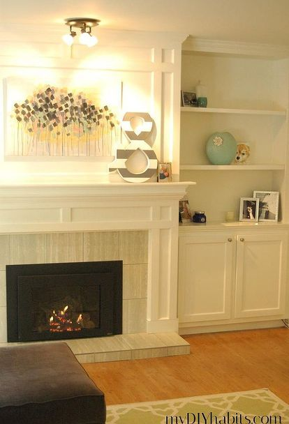 Our Transformed Fireplace: Before & After | Diy fireplace mantel ...