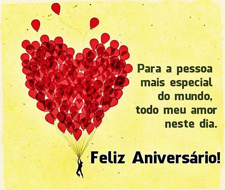 Para A Pessoa Mais Especial Do Mundo Feliz Aniversário
