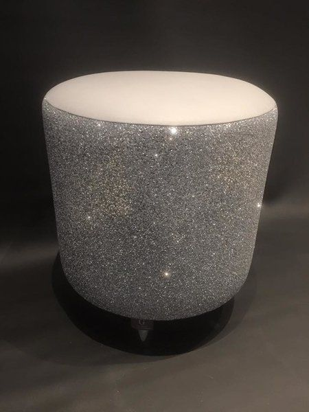 Glitter Furniture stunning Silver Glitter drum stool | The ... Dining Chair Clipart