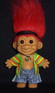 Hippie Russ Troll Doll 5 Hippy 70 S Peace New In Bag I