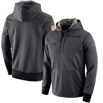 new styles 7b0b4 13ae3 la chargers salute to service hoodie, los angeles chargers ...
