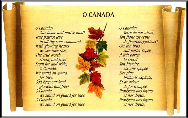 Pin By Helen Zhang On Celebrations O Canada O Canada Lyrics Canadian National Anthem