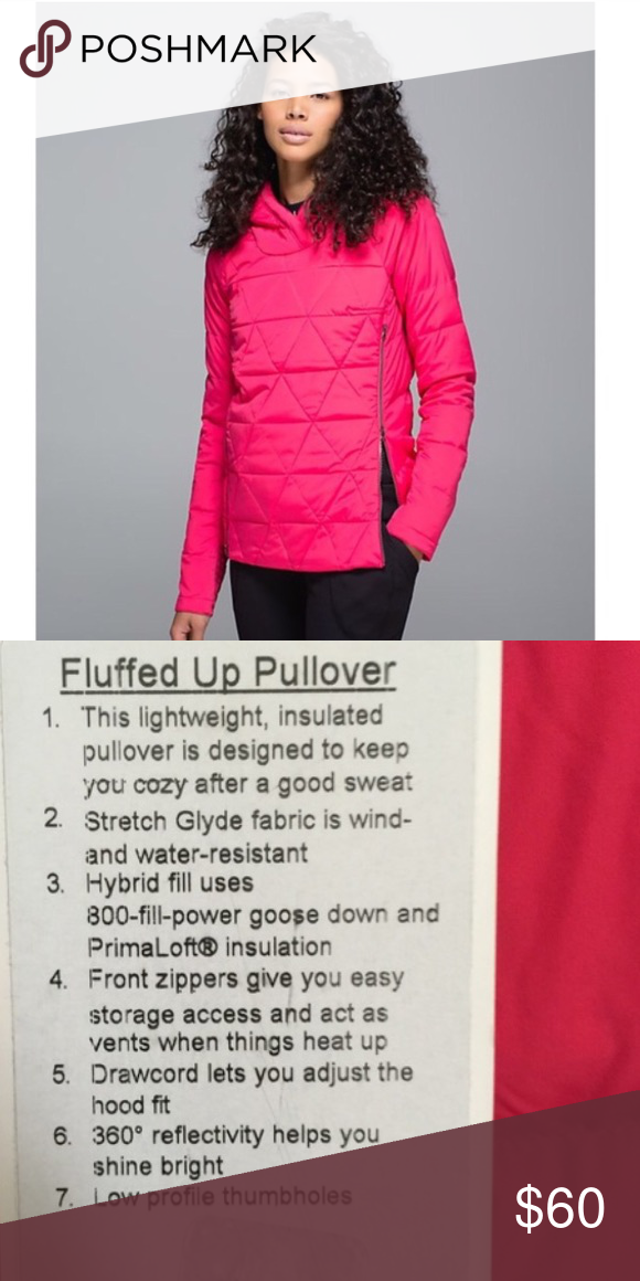 Lululemon Fluffed Up pullover boom juice EUC, just always reaching for 1/2 zips and jackets these days! lululemon athletica Jackets & Coats