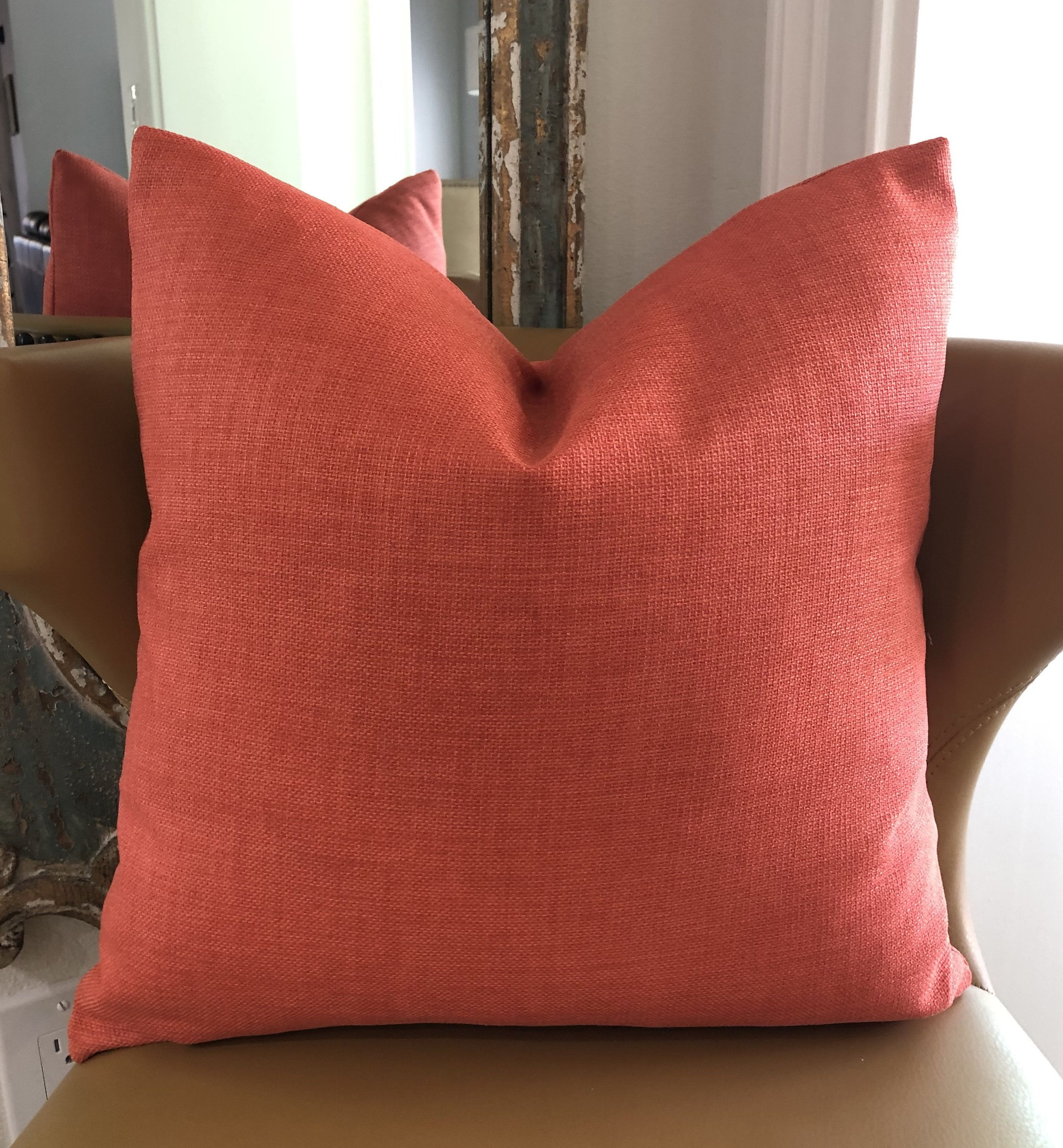 coral outdoor decorative pillow cover