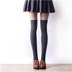49835c497 2016 New 3 Colors Fashion Women s Socks Sexy Warm Thigh High Over The Knee  Socks Long Cotton Stockings For Girls Ladies Women
