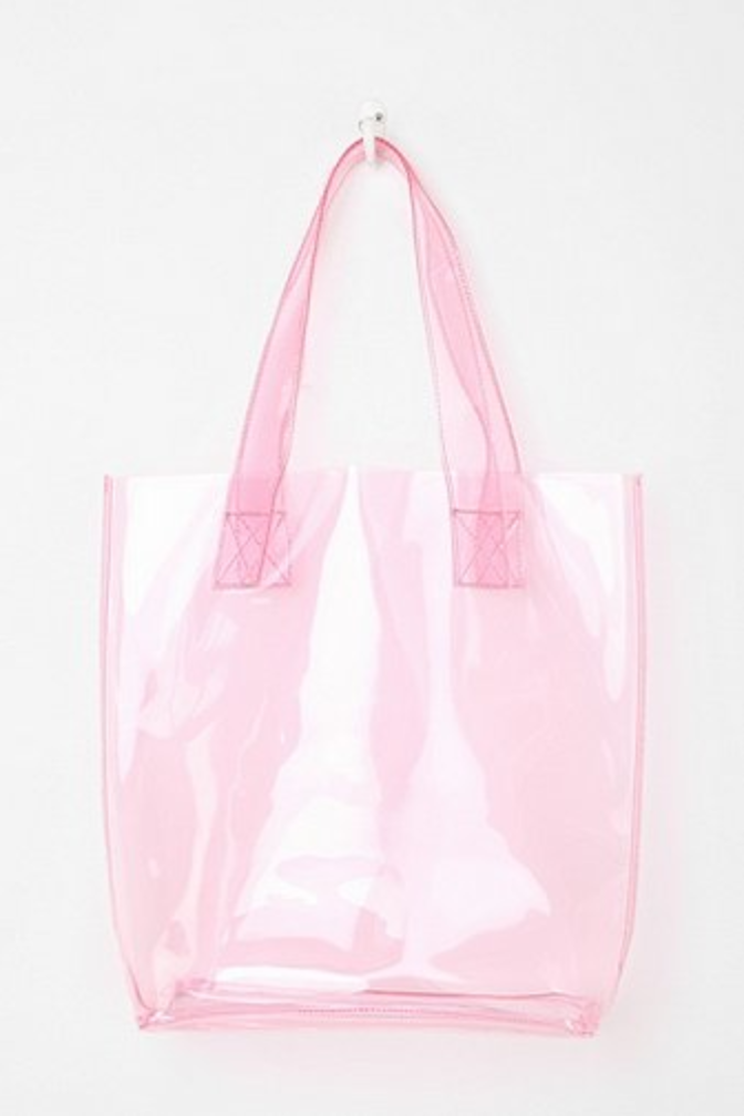 Transparent bags are sooo cute. pastel fashion