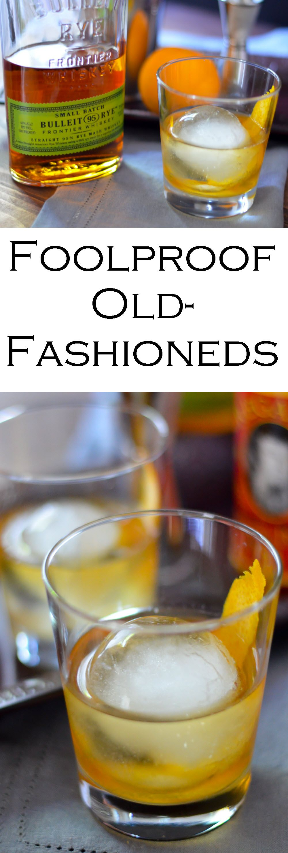 Foolproof Classic Old Fashioned Cocktails Recipe Easy