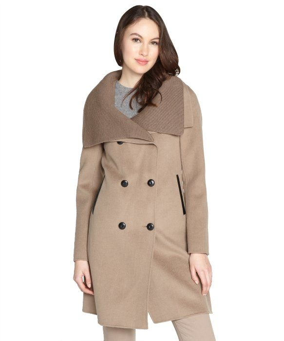 Mackage camel foldover collar double breasted wool coat