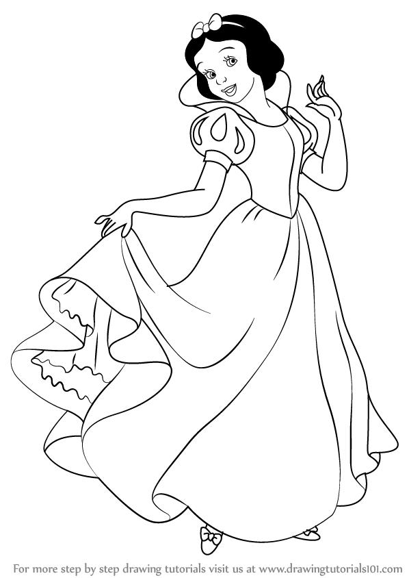 Черно-белые картинки принцесс диснея