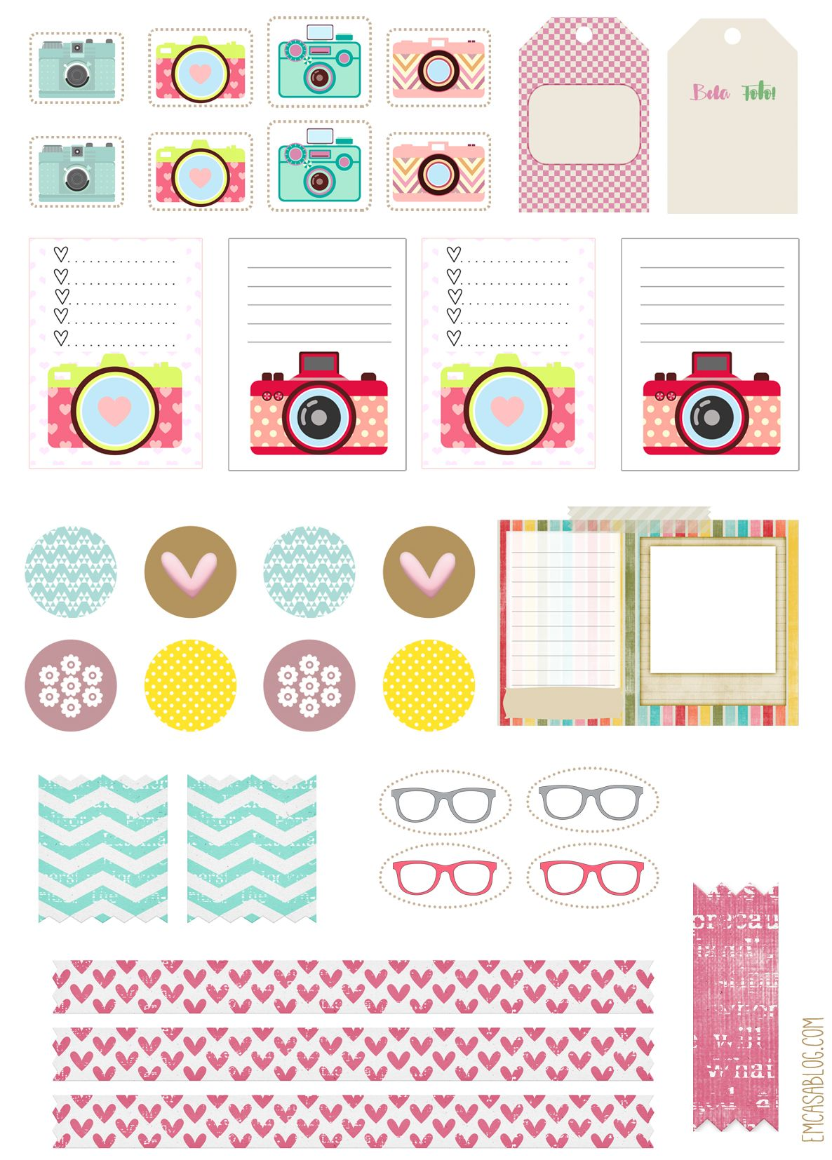 em casa blog: free printable planner stickers | planners & bullet