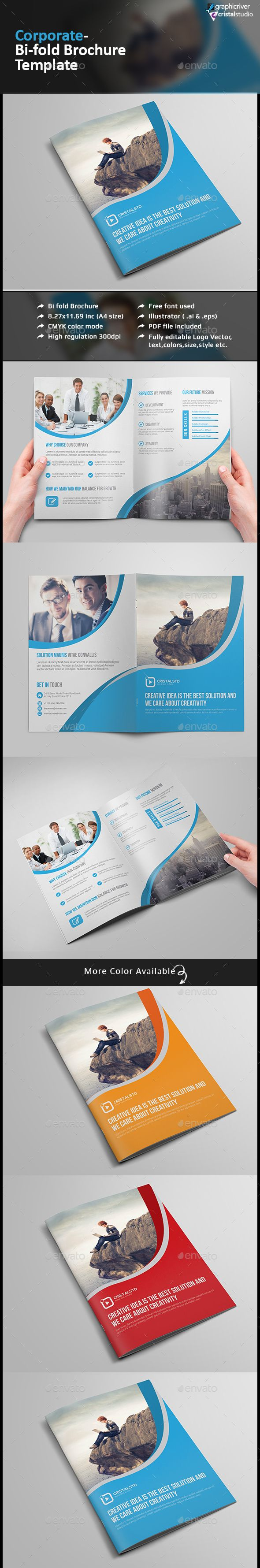Corporate Bifold BrochureMultipurpose Brochure Template - Bi fold brochure template indesign