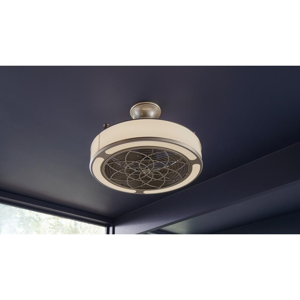 Stile Anderson 22 In Led Indoor Outdoor Brushed Nickel Ceiling