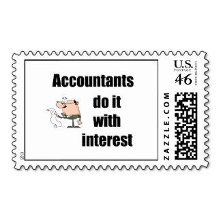 Accountants Do It With Interest Postage Stamp