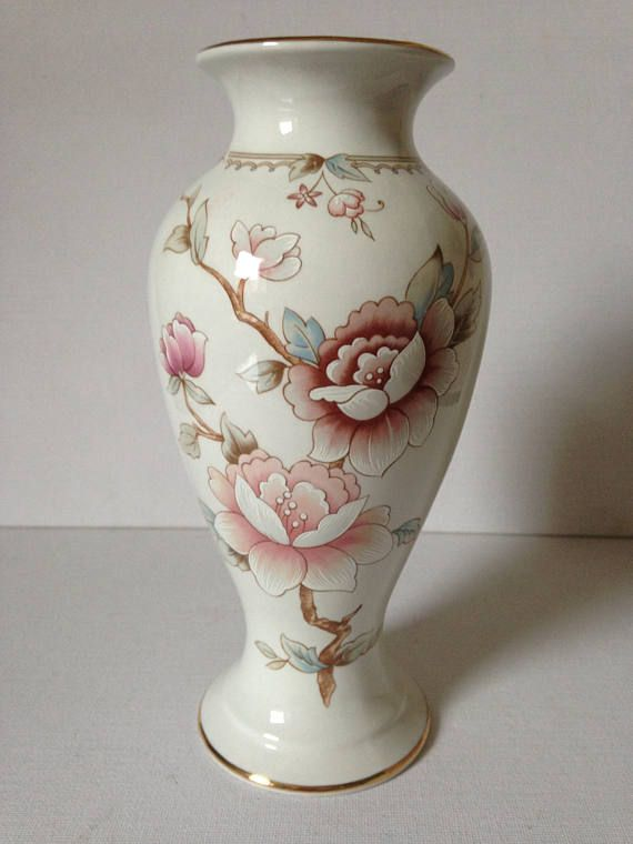 Marks And Spencer Vintage Floral Vase St Michael Ceramic Vase