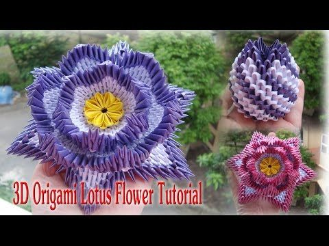 How to make 3d origami lotus flower cmo hacer la flor de lotus de how to make 3d origami lotus flower cmo hacer la flor de lotus de origami mightylinksfo