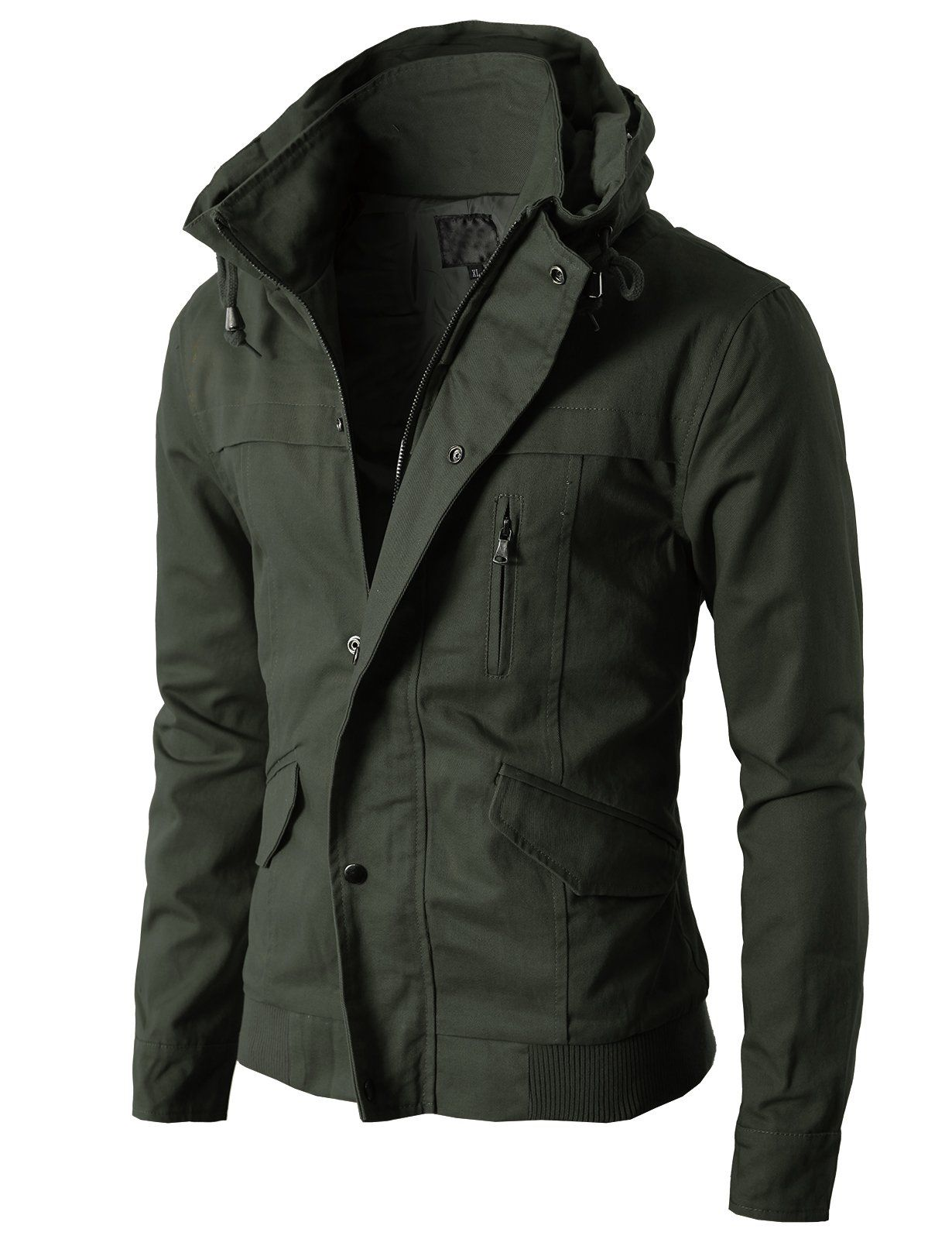 2a0a2b72 H2H Mens High-neck Field Jackets without Hood KHAKI Asia XL (KMOJA024)